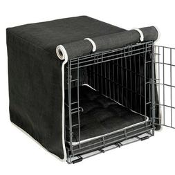 2 Pc Set Bowsers Pet Products STORM Dog Crate Cover AND Luxu