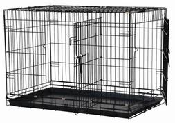 Precision Pet 2-door Dog Crate 19x12x15 Black