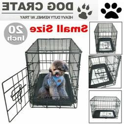 """20"""" Small Dog Crate Kennel Cage Wire Steel Metal Pet Playpen"""