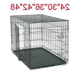 "24""/30""/36""/42""/48"" Pet Cat Dog Folding Steel Crate Playpen"