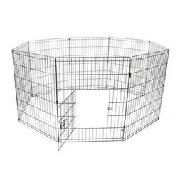 ALEKO 24 Inch Dog Playpen Pet Kennel Pen Exercise Cage Fence