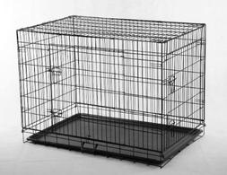 24 Pet Folding Dog Cat Crate Cage Kennel w/ABS Tray LC by Be