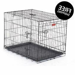 """36"""" Lucky Dog Folding Black Wire 2 Door Training Crate"""