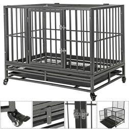 """36""""Portable Heavy Duty Dog Cage Crate Kennel Metal Pet Playp"""