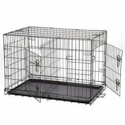 "42"" 2 Doors Pet Folding Suitcase Dog w/Divider Cat Crate Cag"