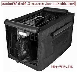 600D Dog Crate Pet Cage Kennel COVER w/ Fold-able mesh windo