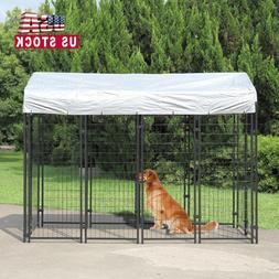 "71""H Outdoor Dog Kennel Dog Crate Cage Large w/UV Protection"