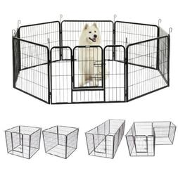 8-Panel Heavy Duty Metal Cage Crate Pet Dog Playpen Exercise