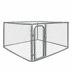 ALEKO Chain Link Dog Kennels Variation Family Walls Only 7x7