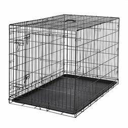 AmazonBasics Single-Door & Double-Door Folding Metal Dog, 48