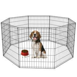 24 30 36 42 48 Tall Dog Playpen Crate Fence Pet Play Pen Exe
