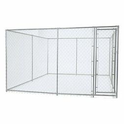 Chain Link Dog Kennel - Lucky Dog Outdoor Heavy Duty Pet Ken