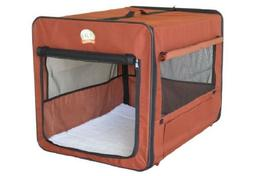 Crate For Large Dog Brown Soft Side Portable Carrier Kennel