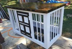 Custom wooden kennel dog crates any color or size! Local pic