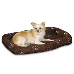 Large Slumber Pet Dog Bed Crate Mat with Pawprint Embroidery