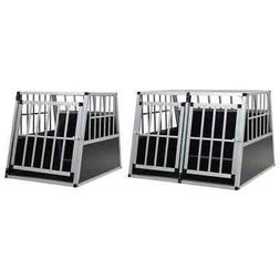 vidaXL Dog Cage Dog Kennels Dog Crates with Single/Double Do