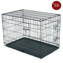 Dog Cage Pet Cage Strong Metal Wire Travel Crate Folding Dog