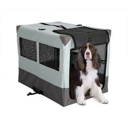 """Dog Camper Portable Soft Sided Travel Tent Crate Kennel 28"""""""
