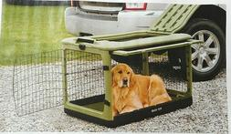 dog cat travel pet kennel steel 4