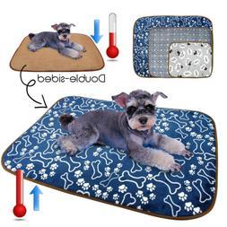 Dog Cooling Mat Small Medium Large Pet Cat Fleece Bed Pad fo