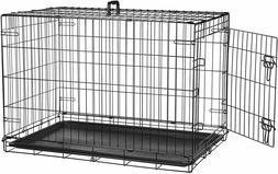 PETSWORLD Dog Crate, 36-inch Single Door, Folding Metal Pet