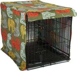 Molly Mutt Dog Crate Cover Medium, Elephant Parade