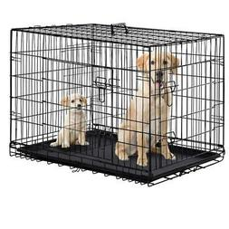 Dog Crate Dog Cage Pet Crate 48 Inch Folding Metal Pet Cage