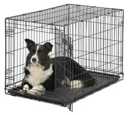 MidWest Homes for Pets Dog Crate | Door Single iCrate & Doub