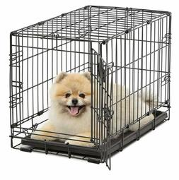 MidWest Homes for Pets Dog Crate | iCrate Single Door Foldin