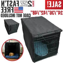 """Dog Crate Kennel Cover 48""""/42""""/36""""/24"""" Breathable Anti Bark"""