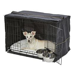 Dog Crate Starter Kit | One 2-Door iCrate, Pet Bed, Crate Co