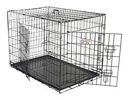 48 inch Double Door Folding Dog Crate By Majestic Pet Produc