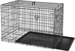 AmazonBasics Double-Door Folding Metal Dog Crate Cage - 48 x