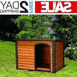 Extra Large Outdoor Dog House XL Kennel Crate Big Dogs Woode