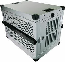 extreme rugged medium folding dog crate heavy