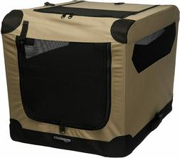 folding soft dog crate portable travel kennel