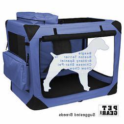 """Pet Gear Generation II Soft Pet Crate size: 29.5""""L x 22""""W x"""