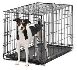 iCrate Single Door & Double Door Folding Metal Dog Crates Fu
