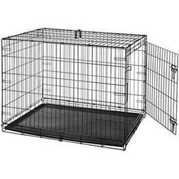 Indoor Folding Cage Crate Kennel Large Pet Dog Single-Door M