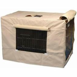 Indoor Outdoor Crate Cover For Size 3000 Crates Tan Med Dog