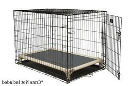 Kuranda Indoor/Outdoor Dog Crate Bed - Almond Frame - Cordur