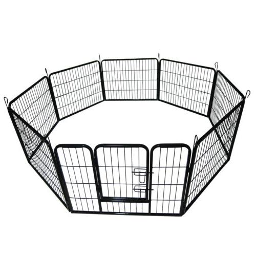 8-Panel Cage Crate Pet Playpen Exercise Kennel