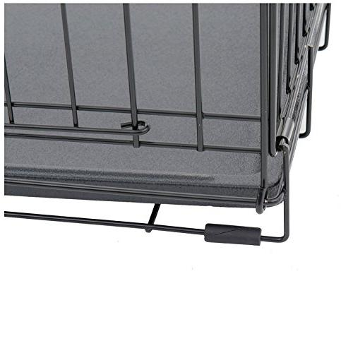 Lucky Dog Door Dog Kennel with Rust-Resistant Wire, Leak-Proof Pan, - x 30W x 33H Inch