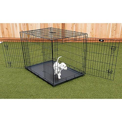 Lucky Dog 2 Door Dog Rust-Resistant Wire, Handle Leak-Proof Removable Pan, - x x 33H Inch