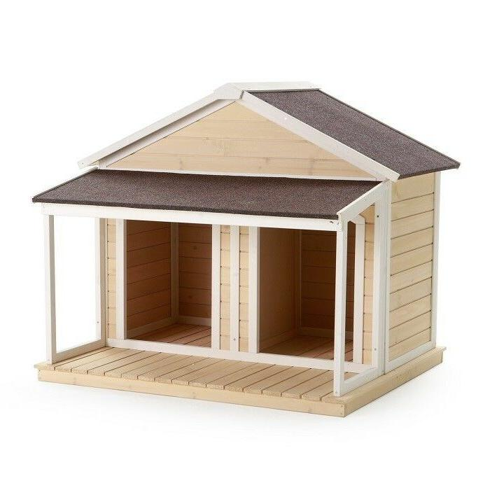 Dogs Extra Large Wood Insulated Duplex Covered