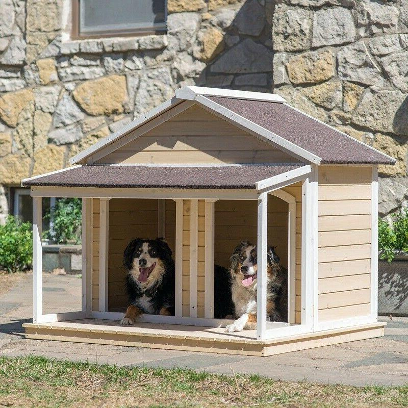 XL Dogs Large Kennel Wood Covered
