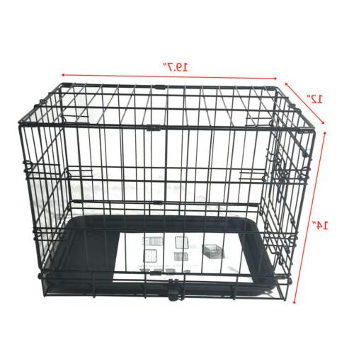 """20"""" Small Kennel Cage Wire Metal Playpen Tray"""