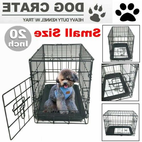 20 small dog crate kennel cage wire