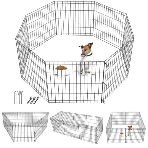 24 inch 8 panels tall dog playpen