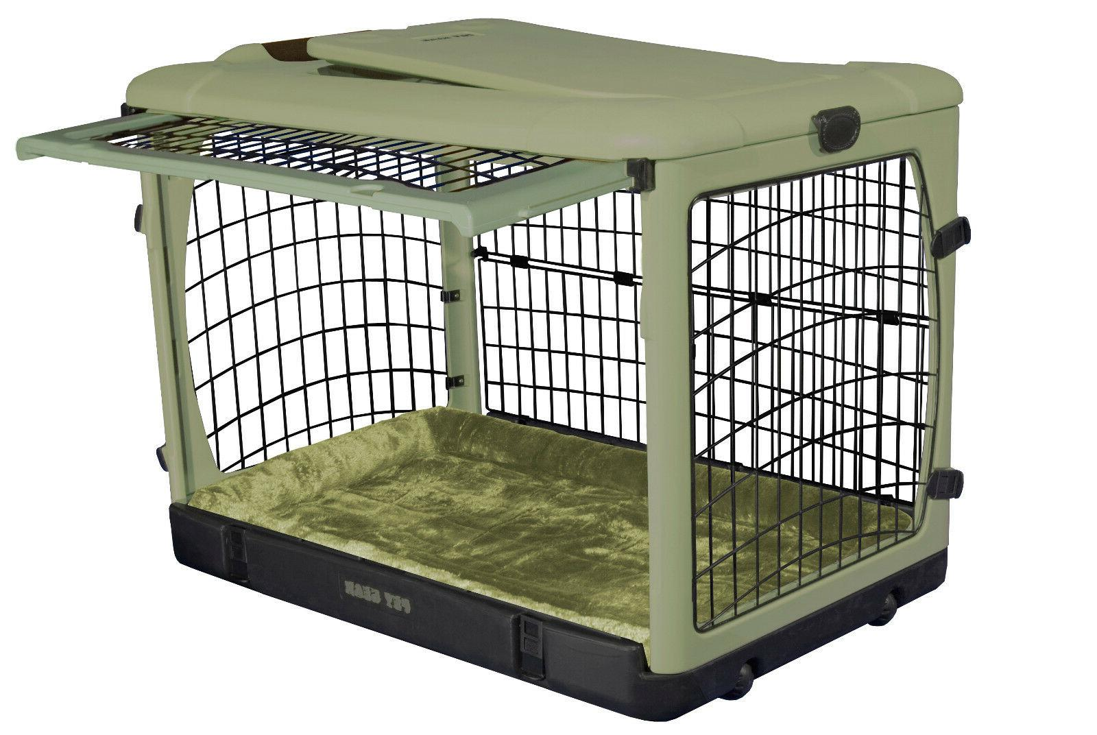 "Pet Gear 27"" Door Steel Kennel with and Plush"